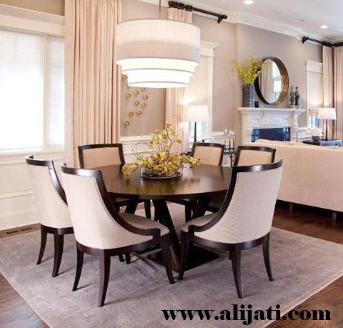 meja makan minimalsis kayu jati perhutani
