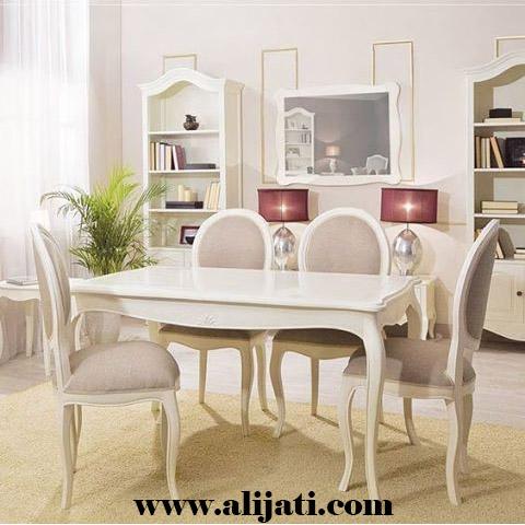 meja makan model minimalis cat duco putih