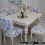 meja makan modern terbaru cat duco putih