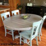 meja makan sederhana kayu jati asli