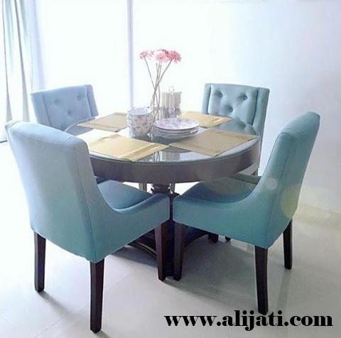 meja makan sederhana kayu jati klasik