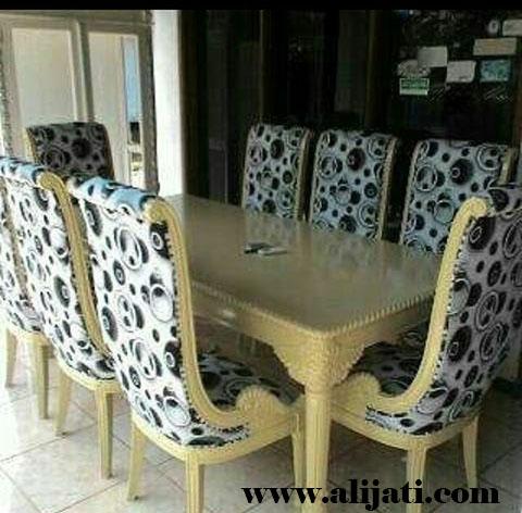 meja makan terbaru kayu jati perhutani