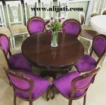 Meja Makan Violet Kayu Jati Modern