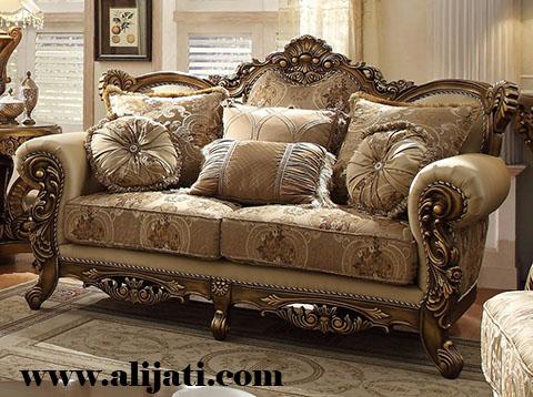 sofa besar super mewah ukir klasik
