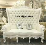 Sofa Cat Duco Putih Kayu Jati Jepara