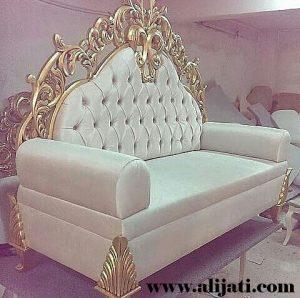 Sofa Cat Gold Kayu Jati Jepara Terbaru
