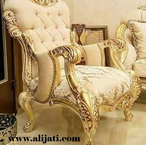 sofa mewah desain terbaru kayu jati