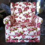 sofa santai cantik jok motif bunga