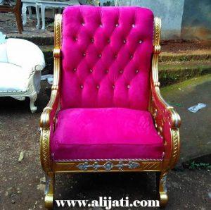 Sofa Santai Sederhana Ukir Kayu Jati