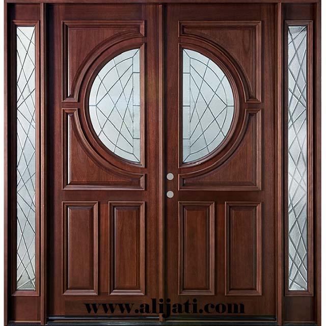 pintu minimalis kayu jati cat natural