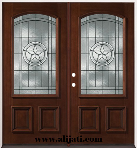 pintu kayu jati minimalis modern