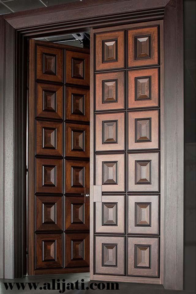 pintu minimalis keren terbaru kayu jati