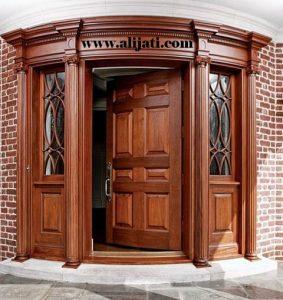 Pintu Minimalis Melengkung Kayu Jati