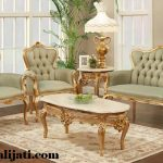 sofa tamu cat gold melamin kayu jati asli