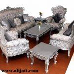 sofa tamu cat perak terbaru kayu jati