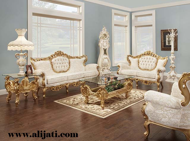 sofa tamu desain victorian kayu jati
