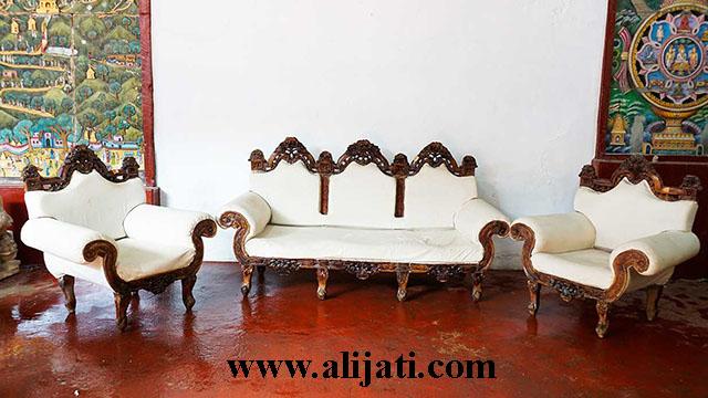 sofa tamu kayu jati asli jepara