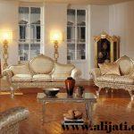sofa tamu keren kayu jati modern terbaru