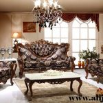 sofa tamu klasik mewah cat natural melamin