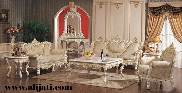 sofa tamu mandala mewah kayu jati