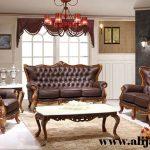 sofa tamu mewah model klasik terkini
