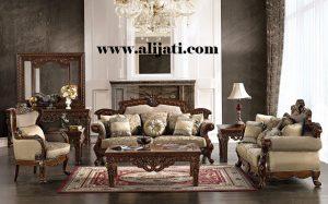 Sofa Tamu Mewah Terbaru Desain Klasik