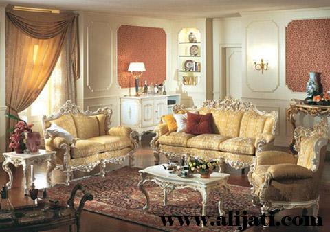 sofa tamu super mewah kayu jati asli