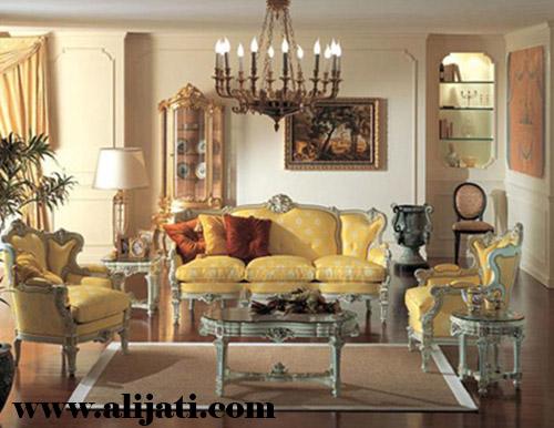 sofa tamu ukir simple khas jepara