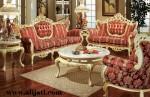 Sofa Tamu Victorian Kayu Jati Perhutani