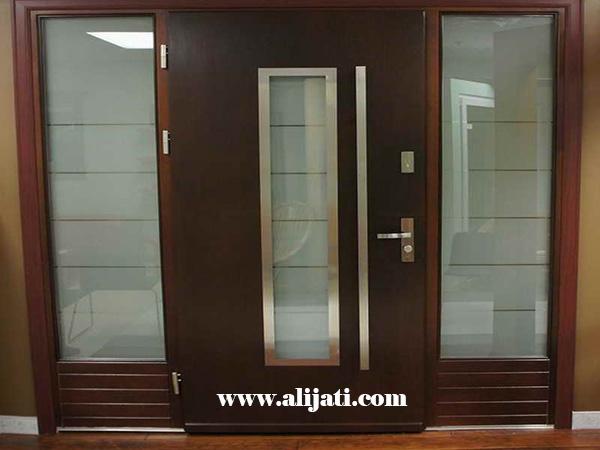 pintu minimalis modern cat natural melamin