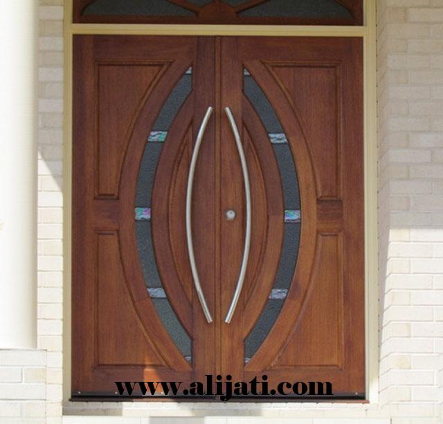 pintu rumah kayu jati perhutani minimalis