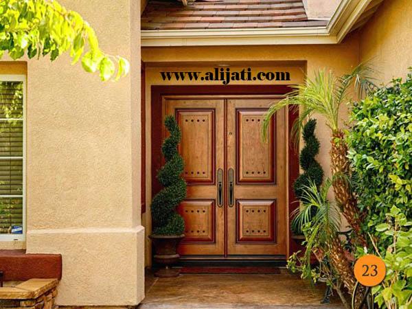 pintu rumah keren modern jati asli