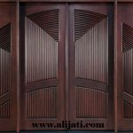 pintu rumah minimalis 3D kayu jati
