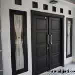 pintu rumah modern terbaru jati murni