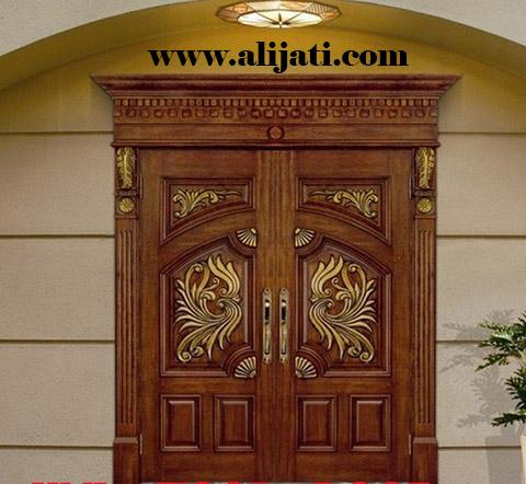 pintu rumah ukir mewah kayu jati