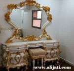Meja Rias Cantik Kayu Jati Model Sekarang