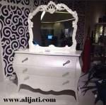 Meja Rias Cat Duco Putih Terbaru kayu Jati