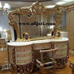meja rias desain super mewah kayu jati asli