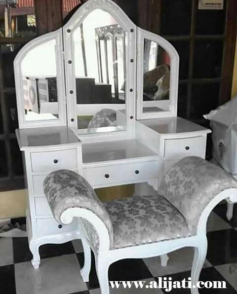 meja rias minimalis modern cat duco putih