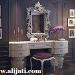 meja rias model sekarang kayu jati