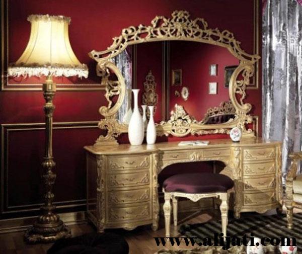 meja rias model super mewah terbaru kayu jati