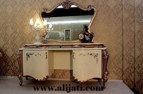 meja rias modern model terbaru asli jepara