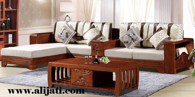 sofa keren minimalis desain terbaru kayu jati