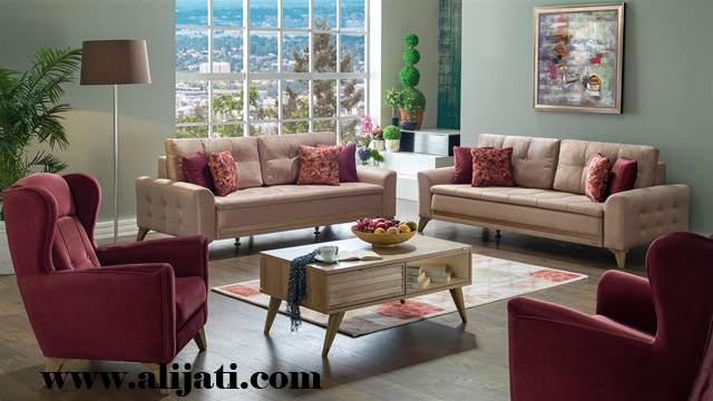 sofa mewah minimalis jati perhutani asli