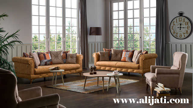 sofa minimalis terbaru kayu jati asli