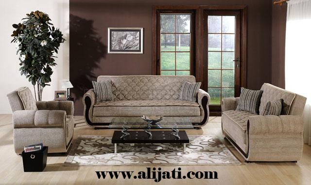 sofa tamu desain baru minimalis kayu jati