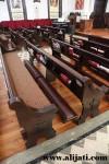 Bangku Gereja Desain Mewah Cat Salak Kayu Jati Asli