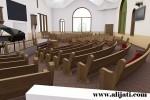 Bangku Gereja Kayu Jati Minimalis