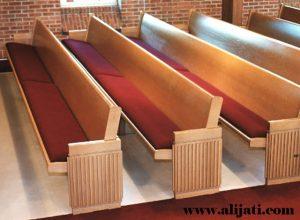 Bangku Gereja Mewah Minimalis Kayu Jati