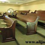 bangku gereja model klasik jati perhutani